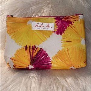 Clinique Lulu dk Pink, Purple Cosmetic Makeup Bag